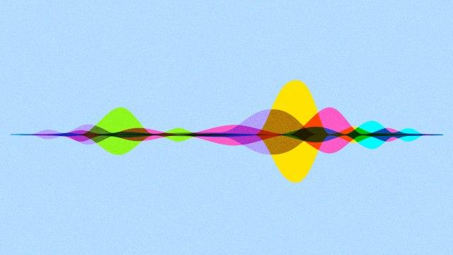 Colorful illustration of sound waves