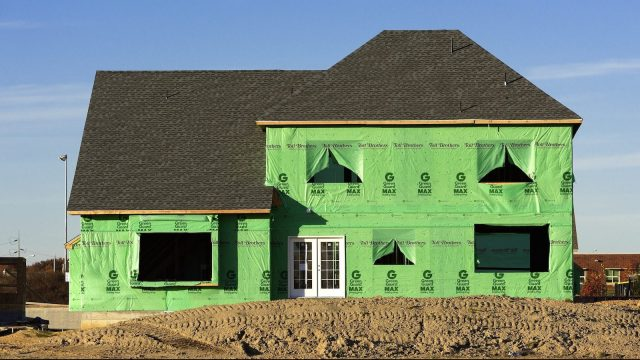 photo of insulation for green home construction