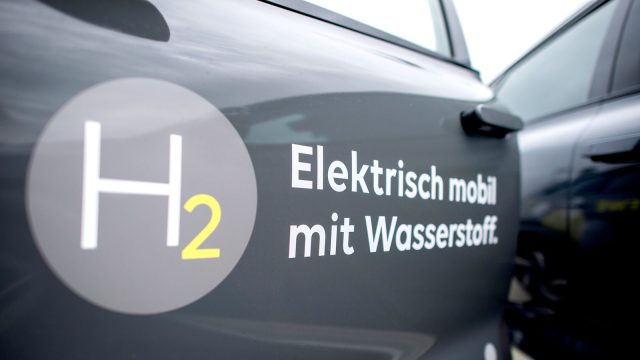 photo of German hydrogen-fueled car