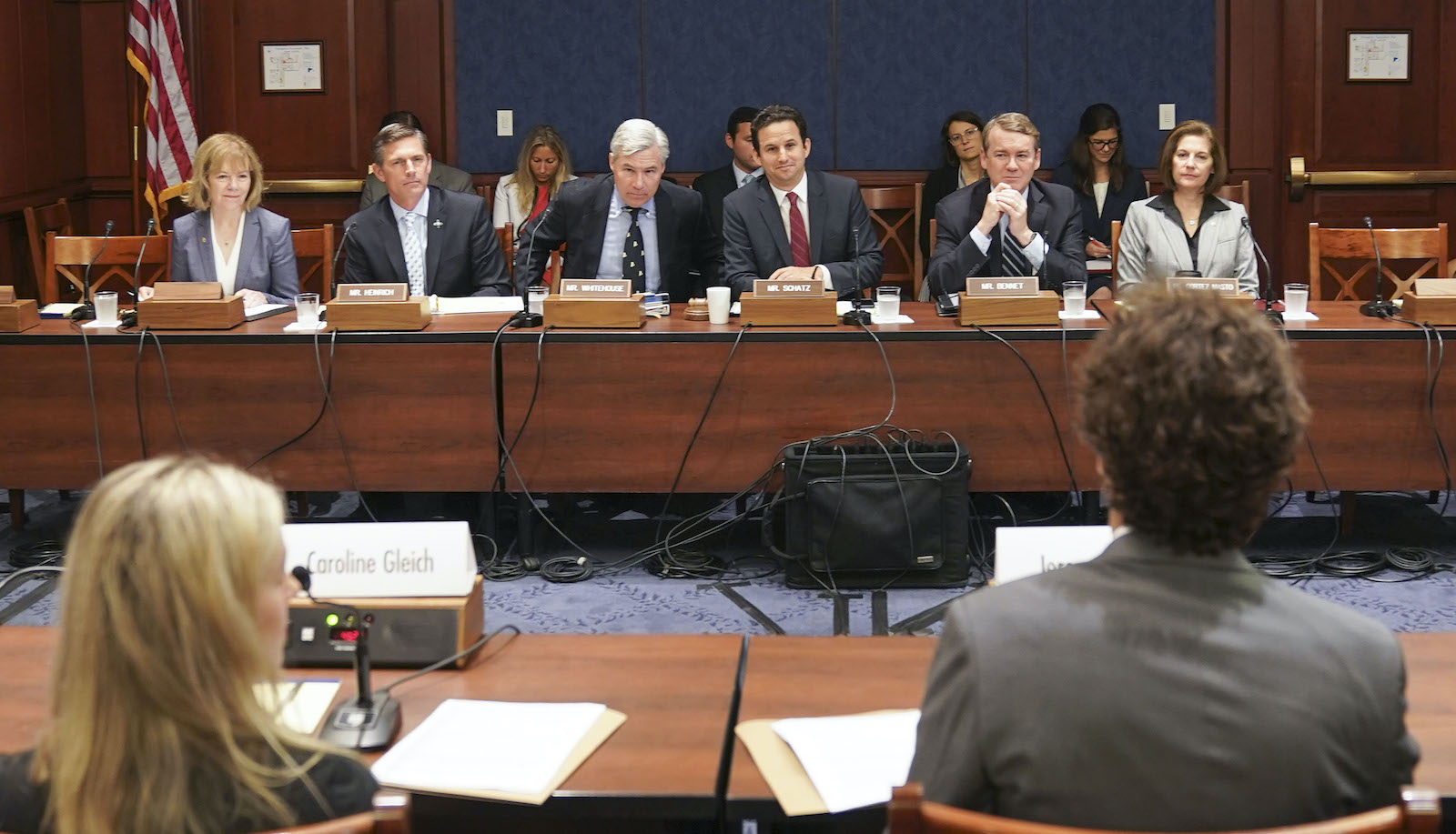 The Senate Committee on the Climate Criss holds a hearing.