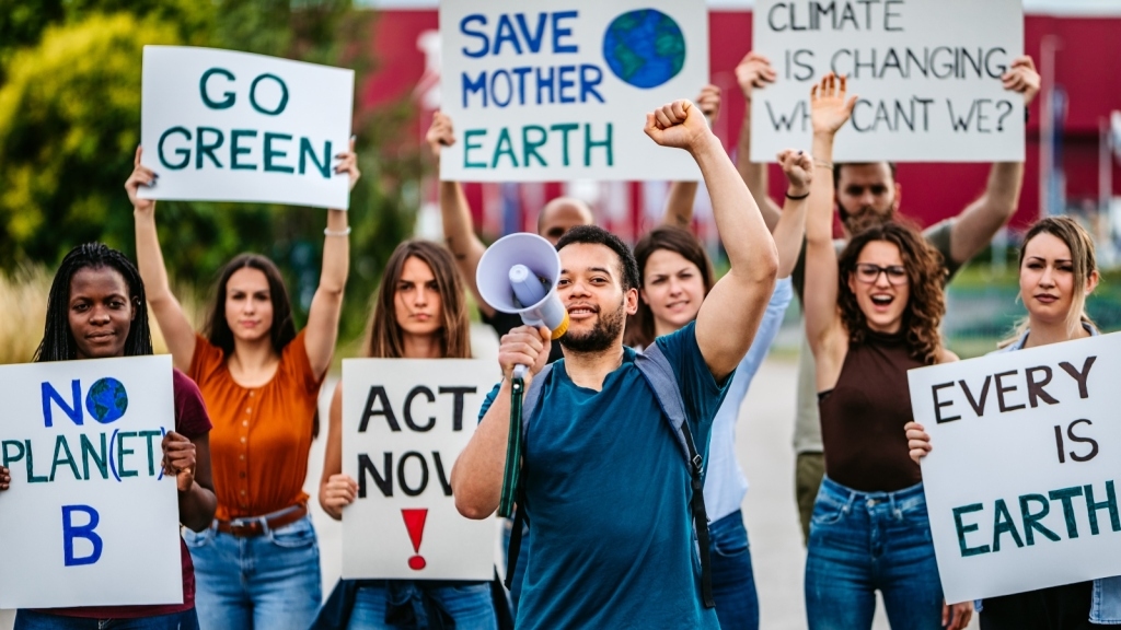 Young climate activists and voters