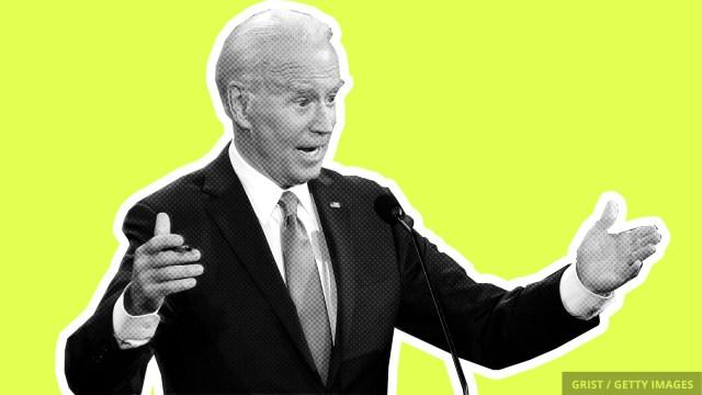 An image of Joe Biden at the debate