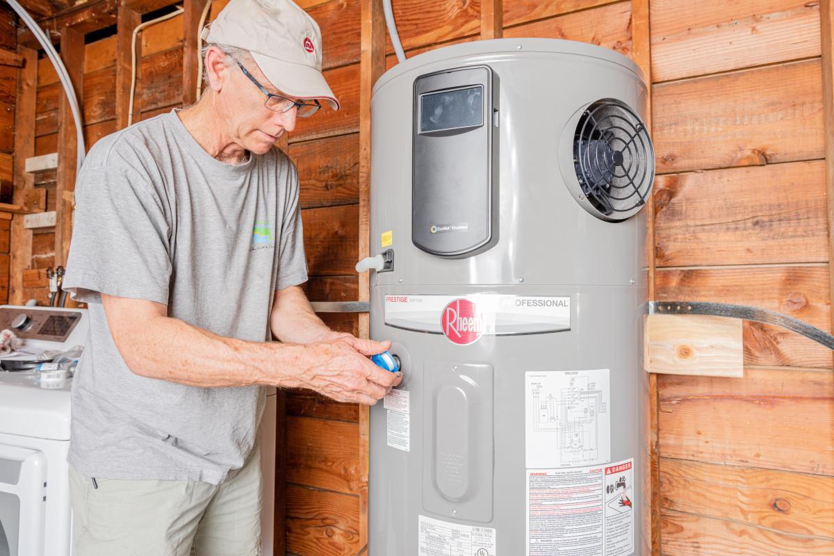 Installing a heat pump water heater
