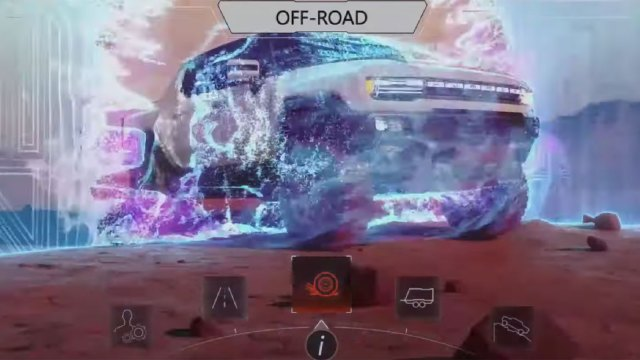 A screenshot of the new electric Hummer