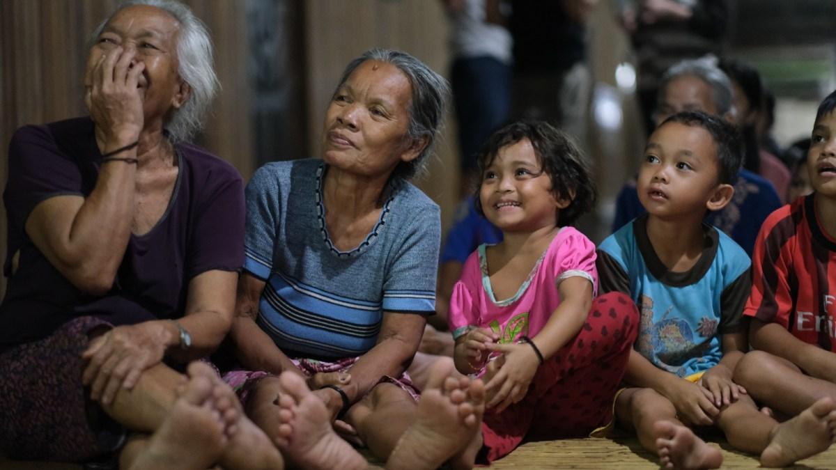 Community meeting in Borneo