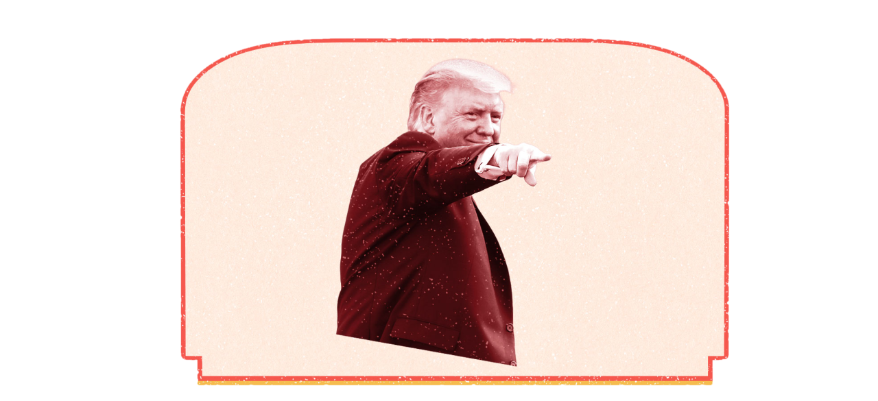 Trump pointing finger