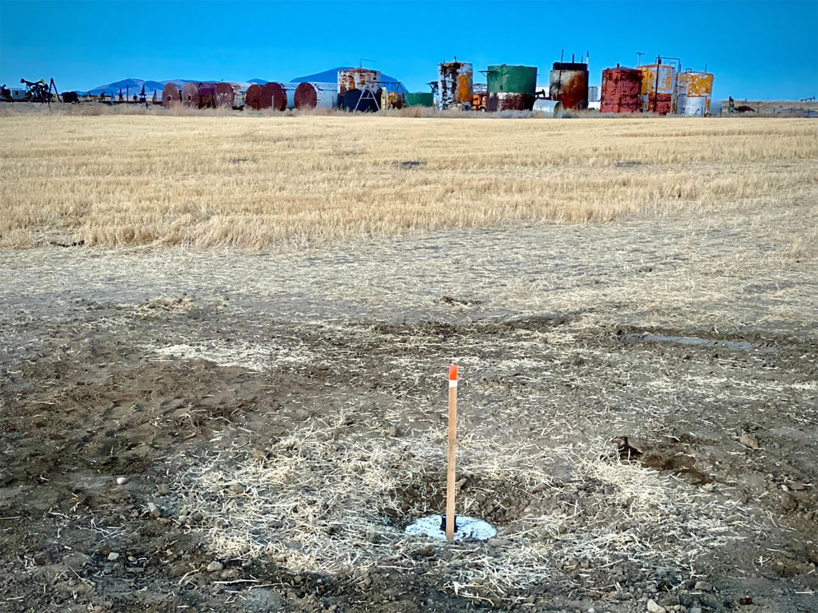 photo of what used to be an abandoned oil well