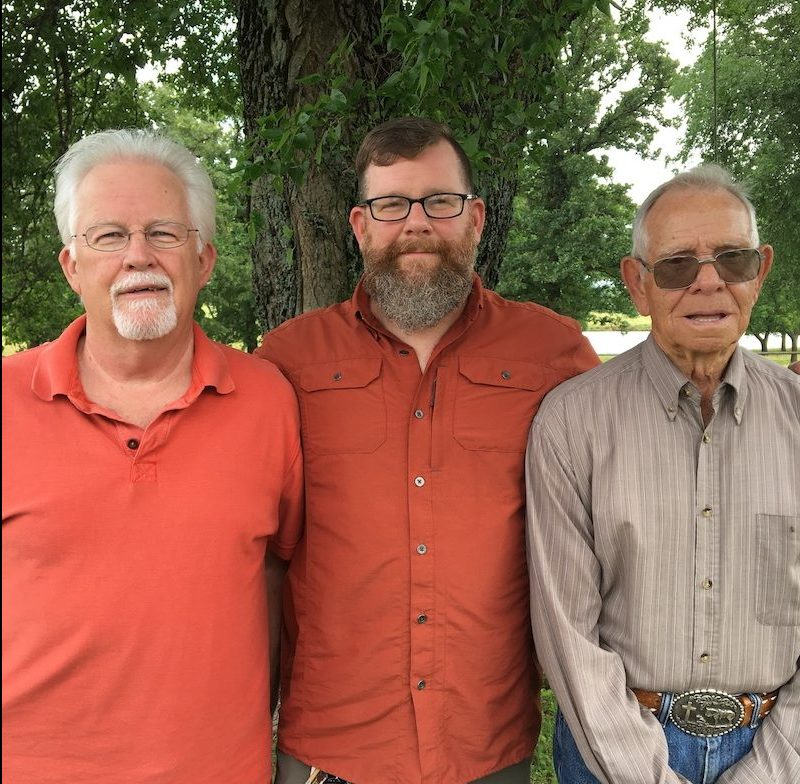 A photo of Bob Wright, Bobby Wright, and Troy Lewellen
