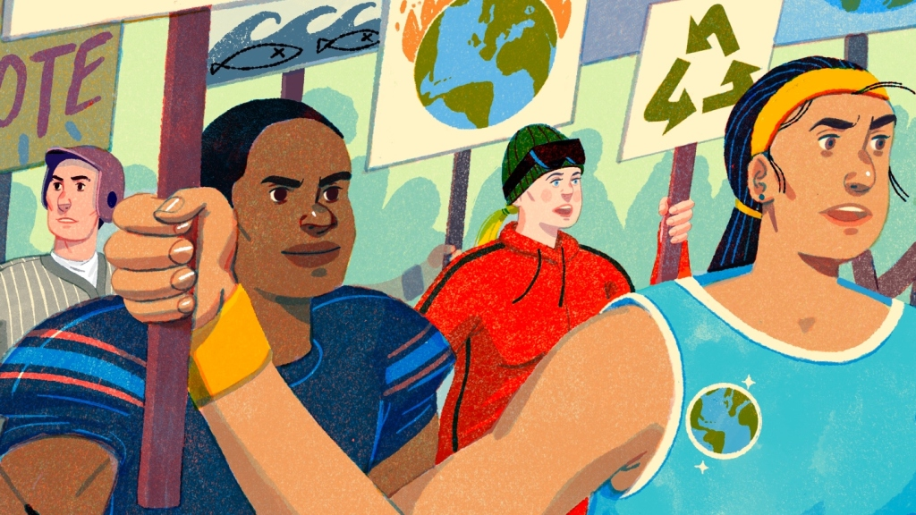 Athletes fight climate change