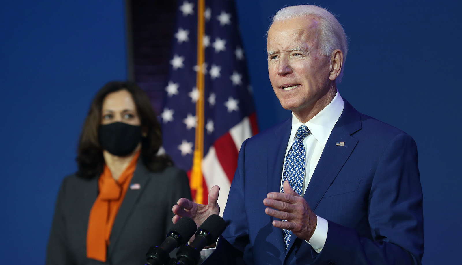 President-Elect Joe Biden Delivers Remarks On Coronavirus And US Economy