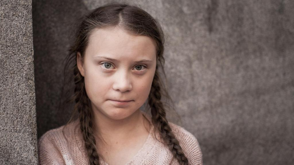 An image of Greta Thunberg, 17-year-old climate activist