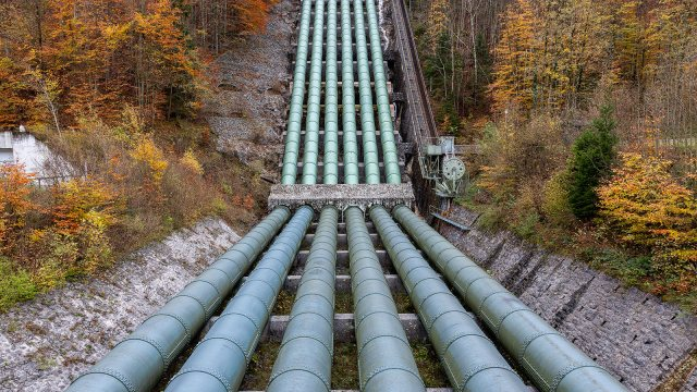 Water Pipeline Of Hydroelectric Power Plant