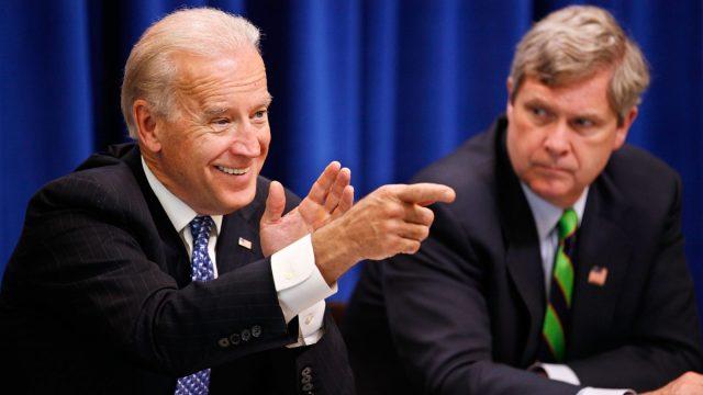 Biden and Vilsack