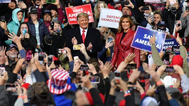 Donald and Melania Trump in Valdosta, Georgia
