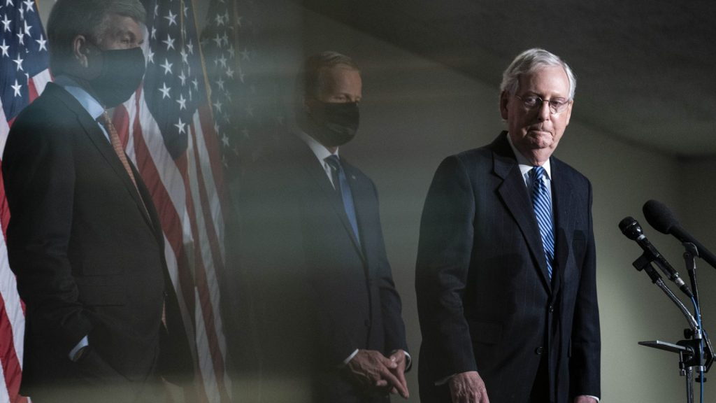 Mitch McConnell looking glum