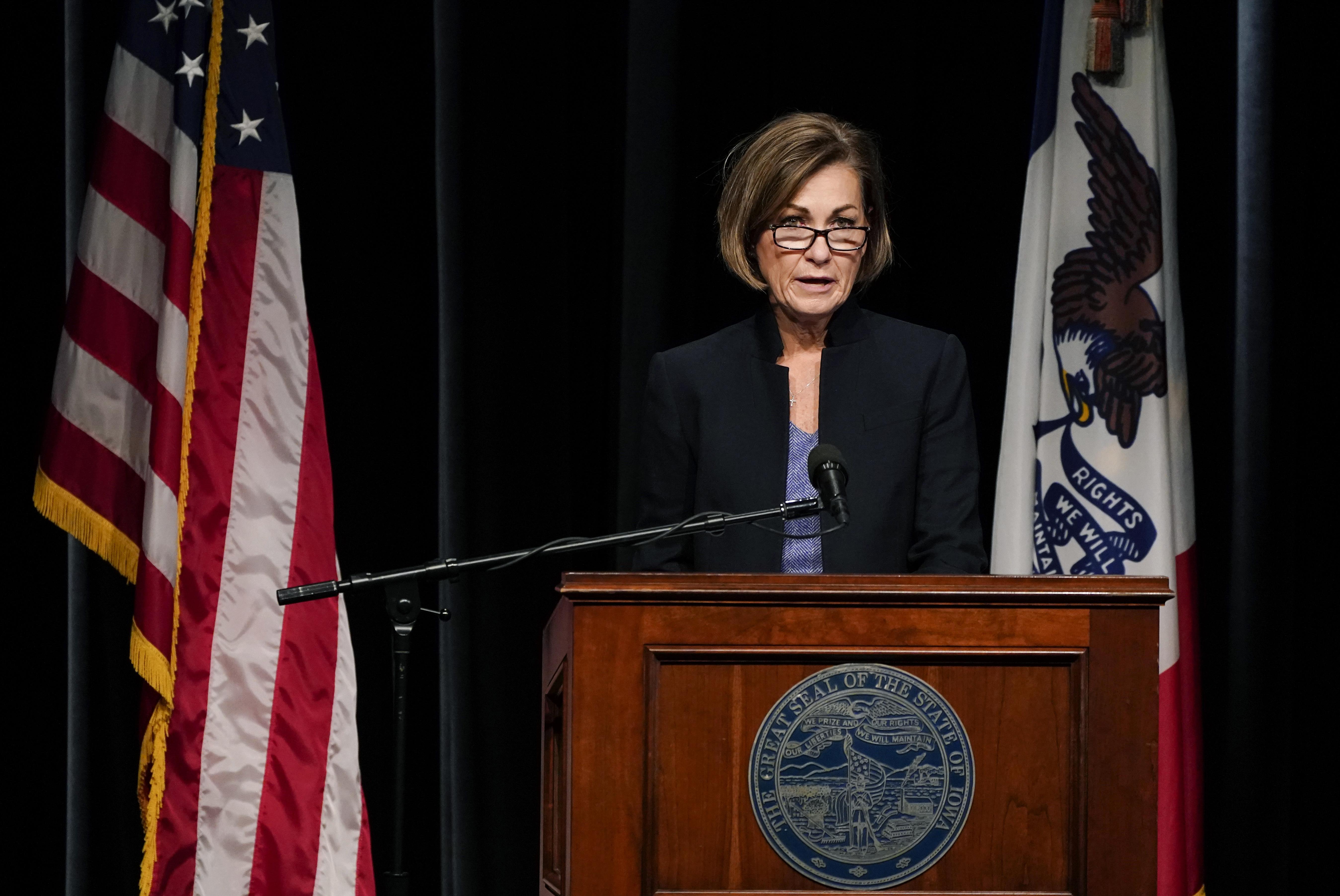 Iowa Governor Kim Reynolds COVID update