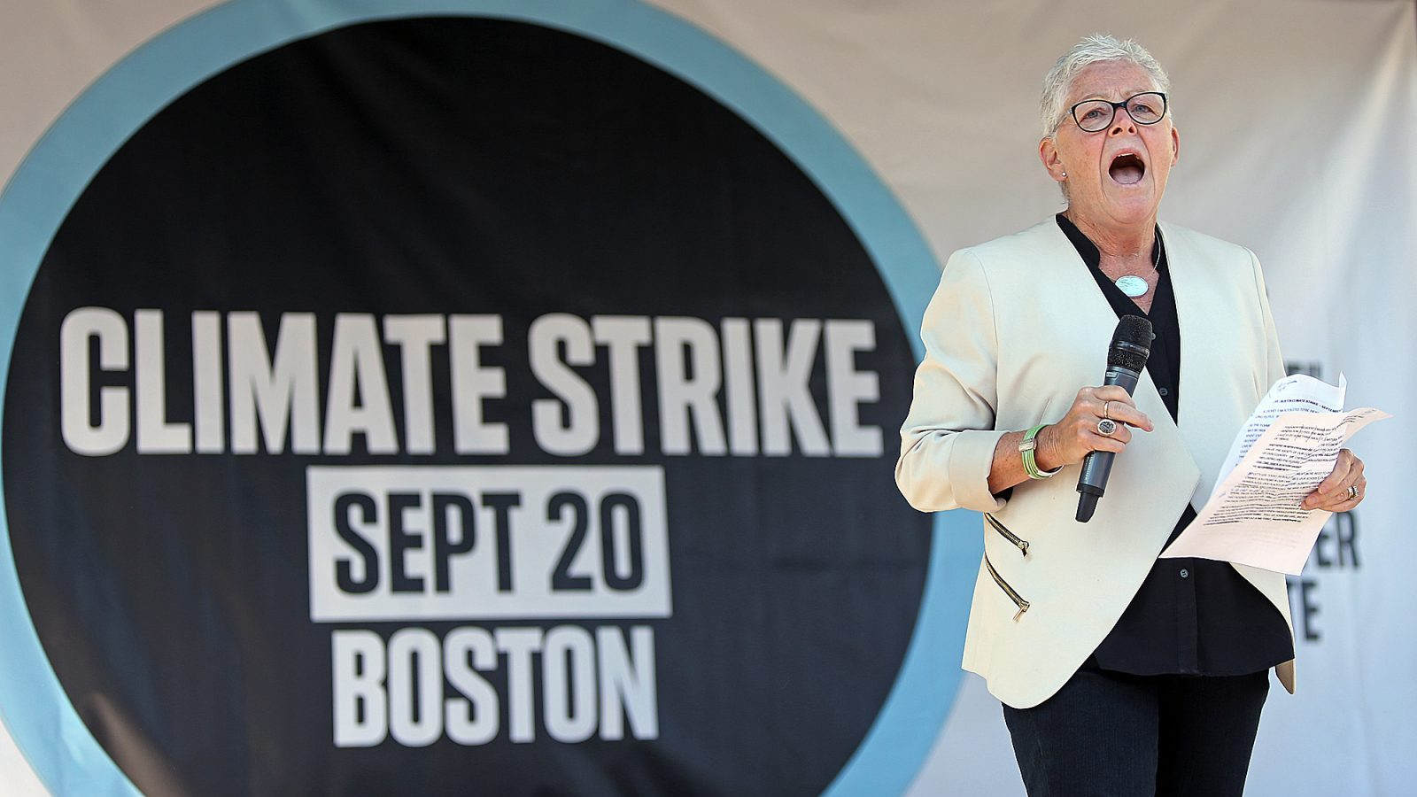 gina mccarthy boston climate strike 2019