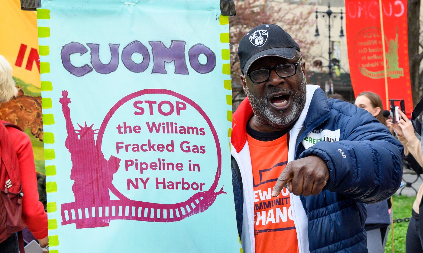 Williams pipeline protest in New York