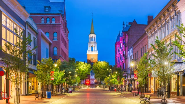 Burlington, Vermont, sources 100 percent of its electricity from renewable sources.