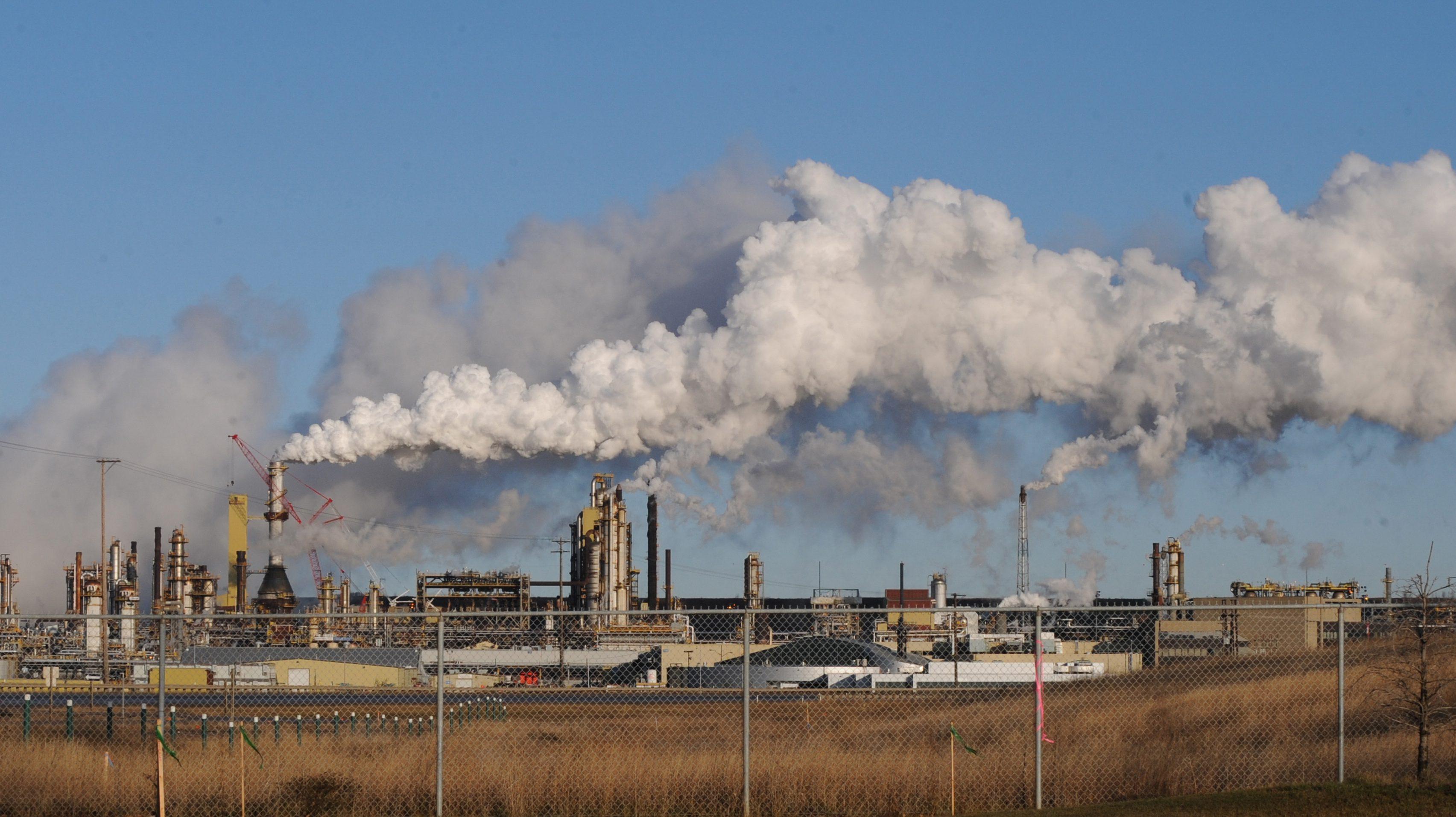 Syncrude oil sand extraction facility Alberta, Canada
