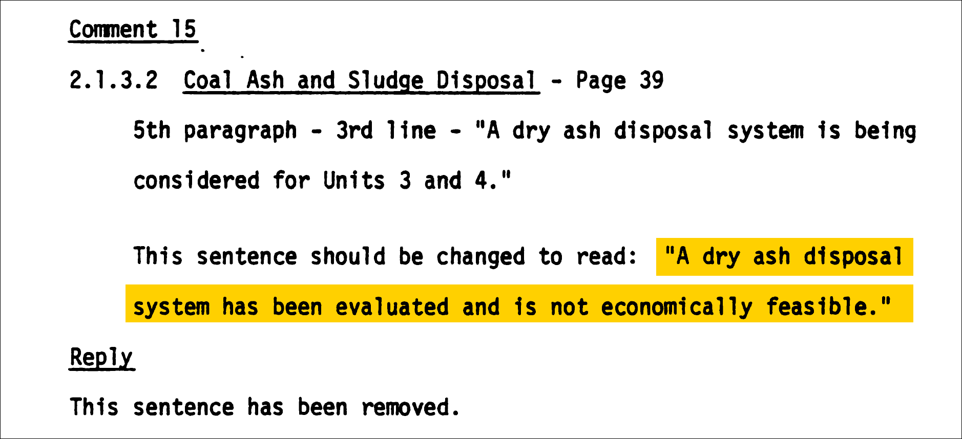 document with highlighted text