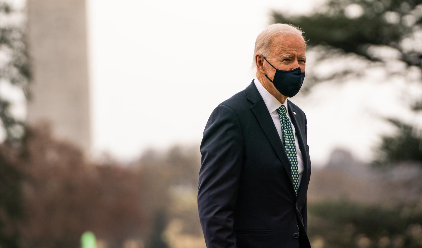 Joe Biden outside the White House