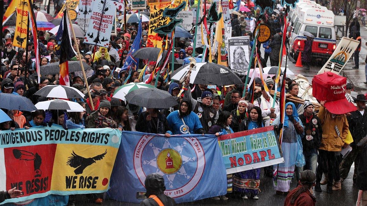 Photo of a Dakota Access Pipeline protest
