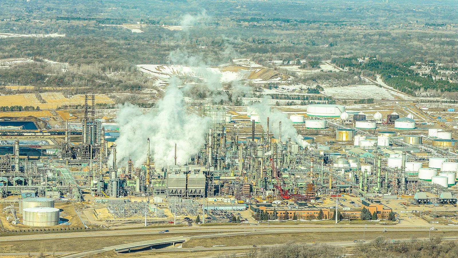Aerial photo 'Pine Bend' Koch Oil refinery