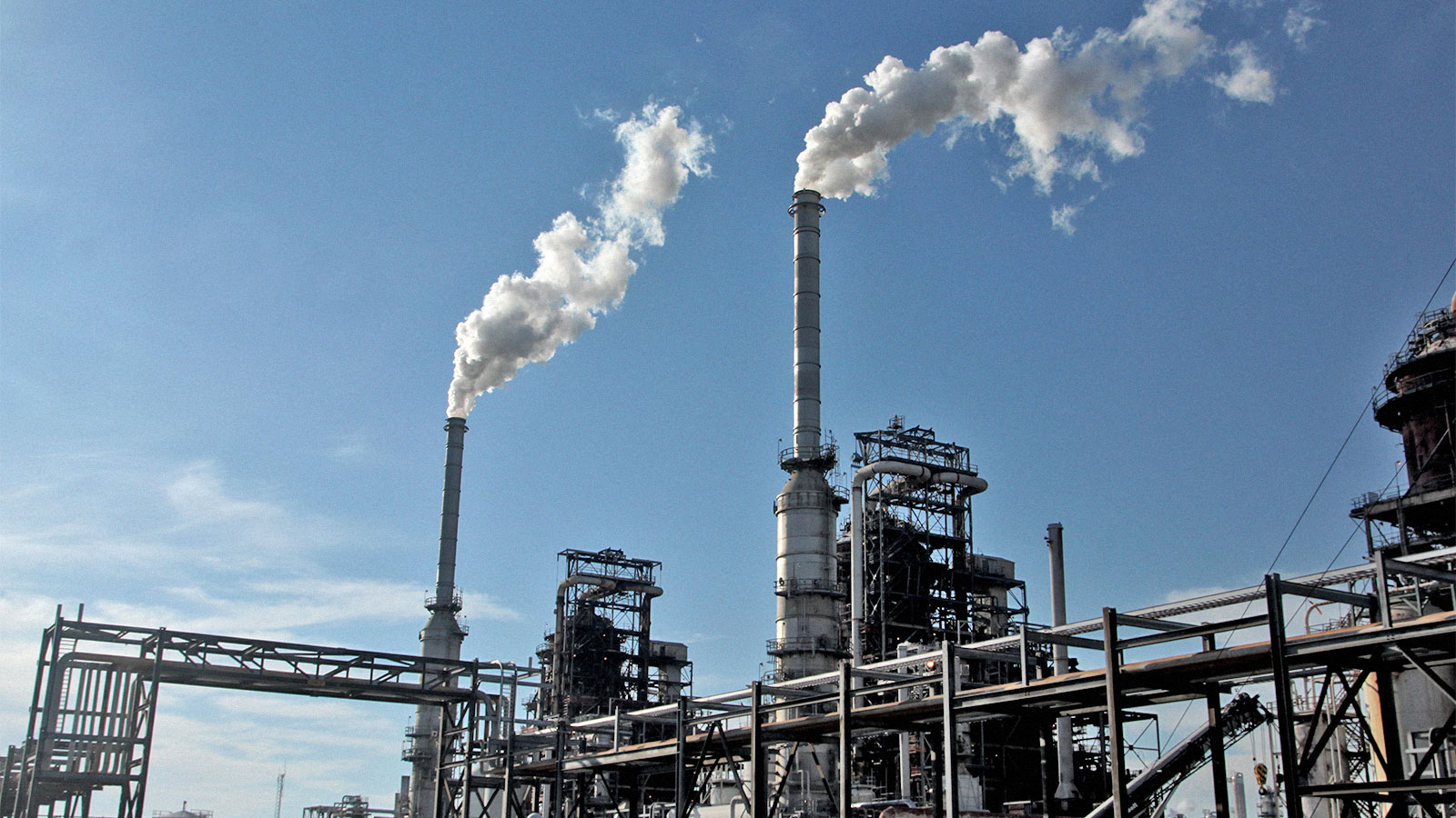 A refinery in Lake Charles, Louisiana