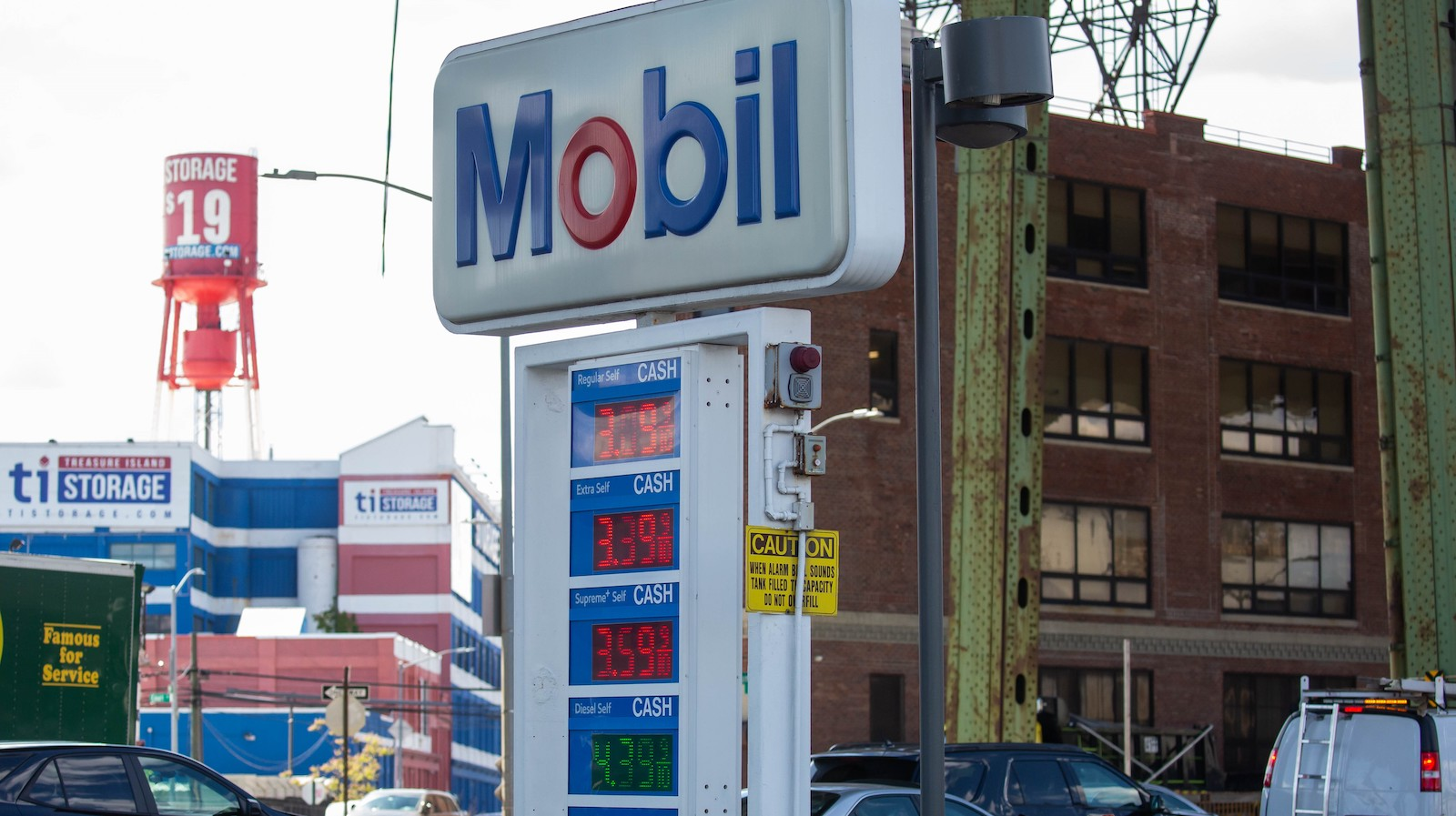 An image of a Mobil gas station sign