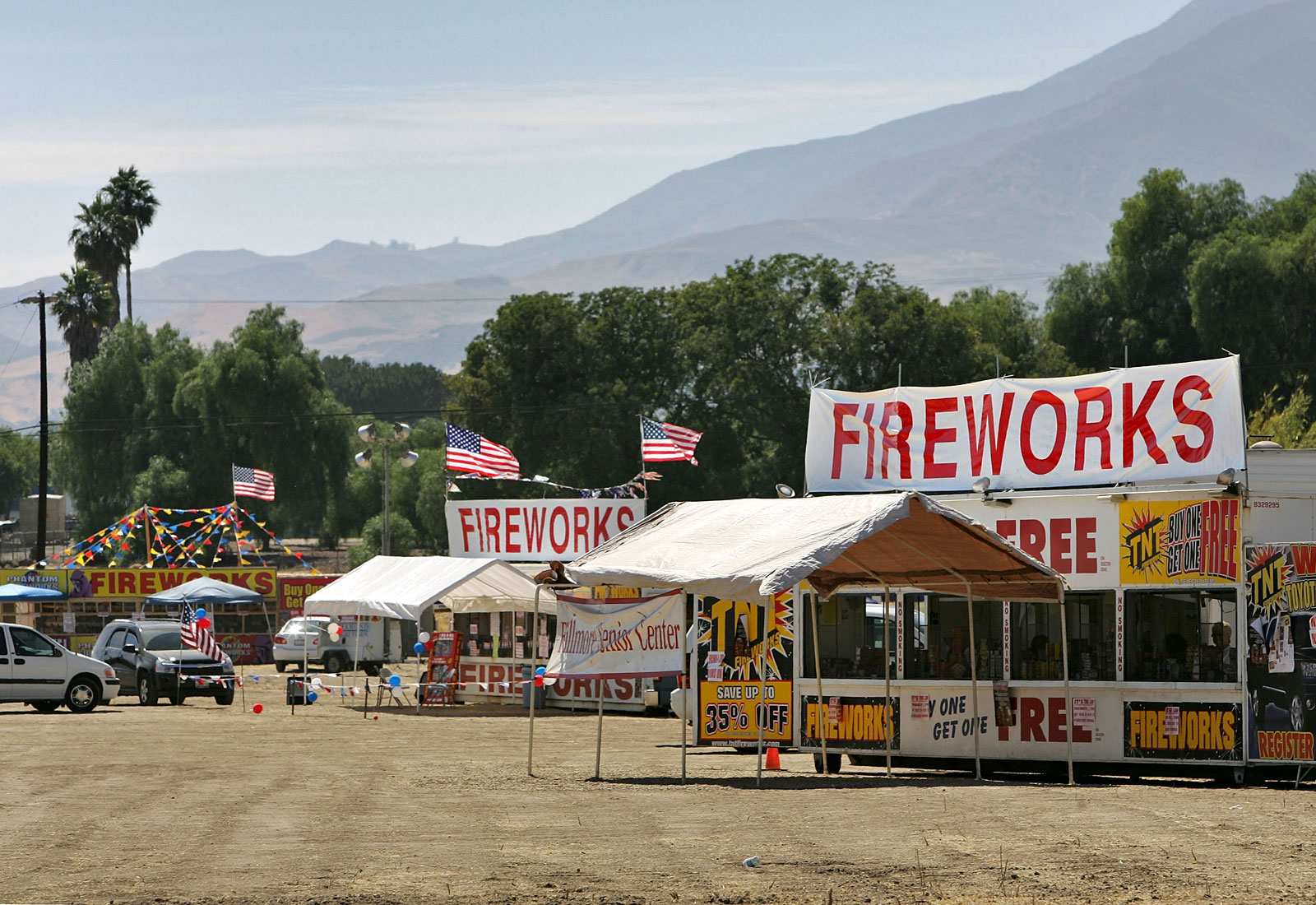 Fireworks being sold in California during a drought