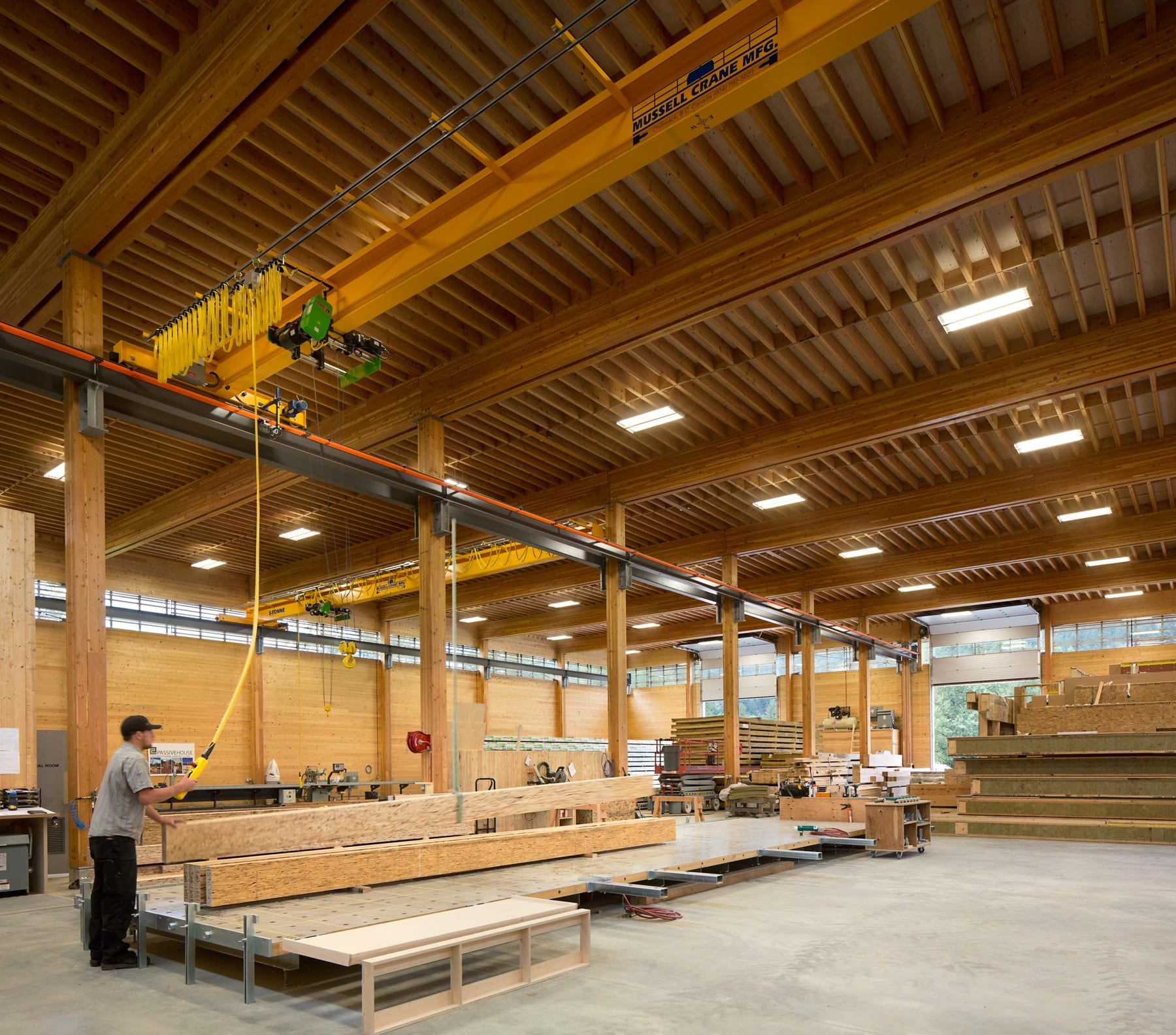 timber house construction emissions BC Passive House Factory