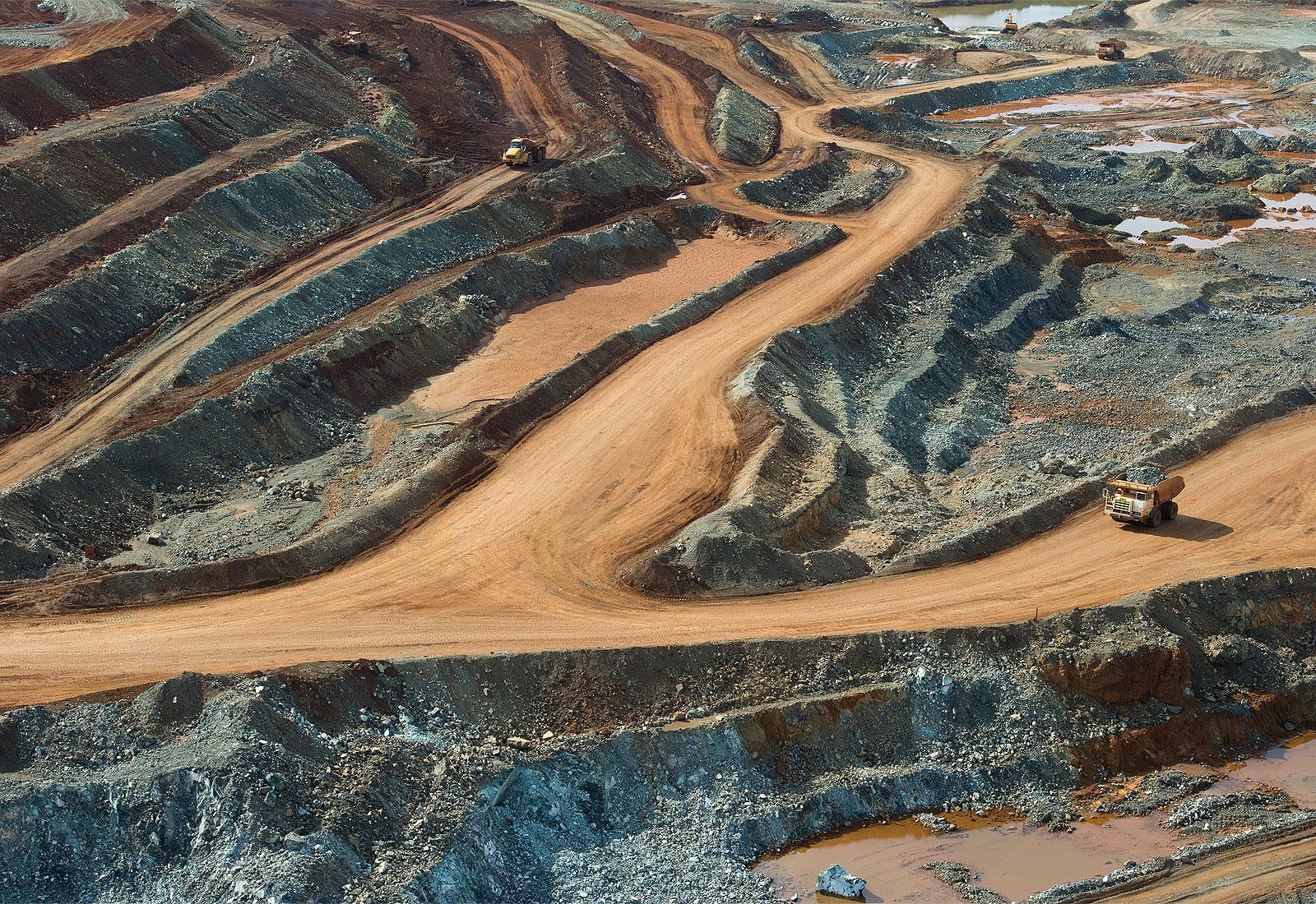 Aerial photo of a nickel mine