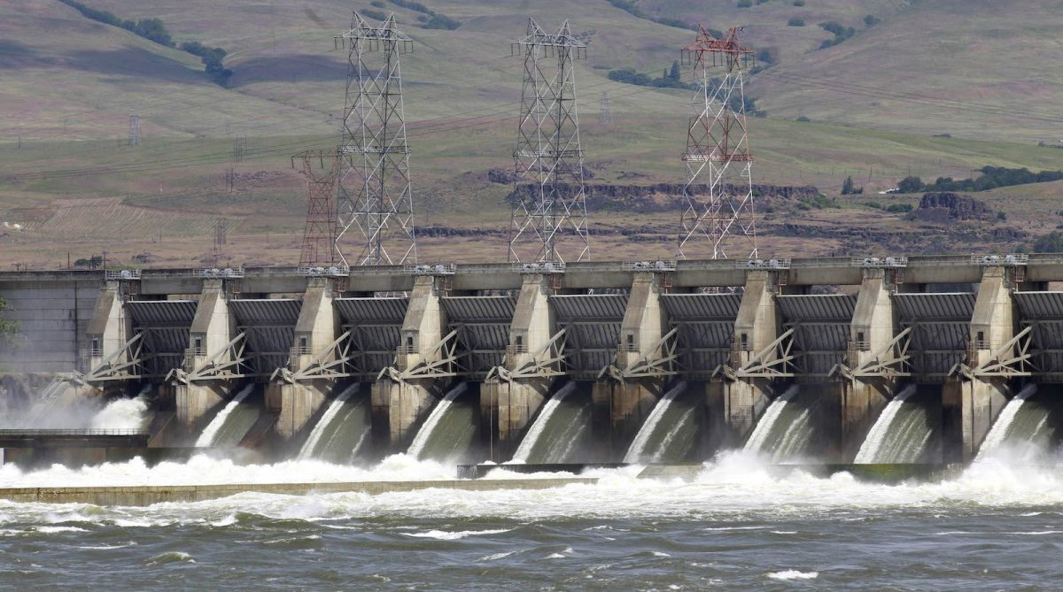 Dalles Dam on the Columbia River