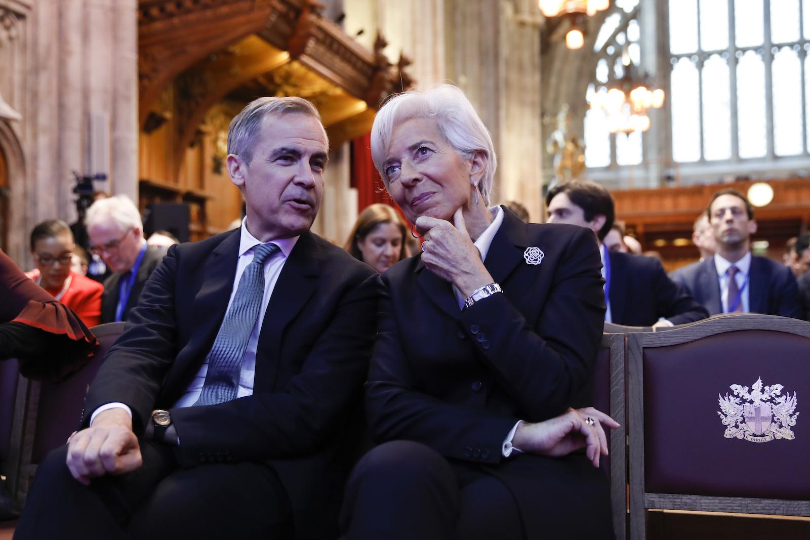 Mark Carney Christine Lagarde