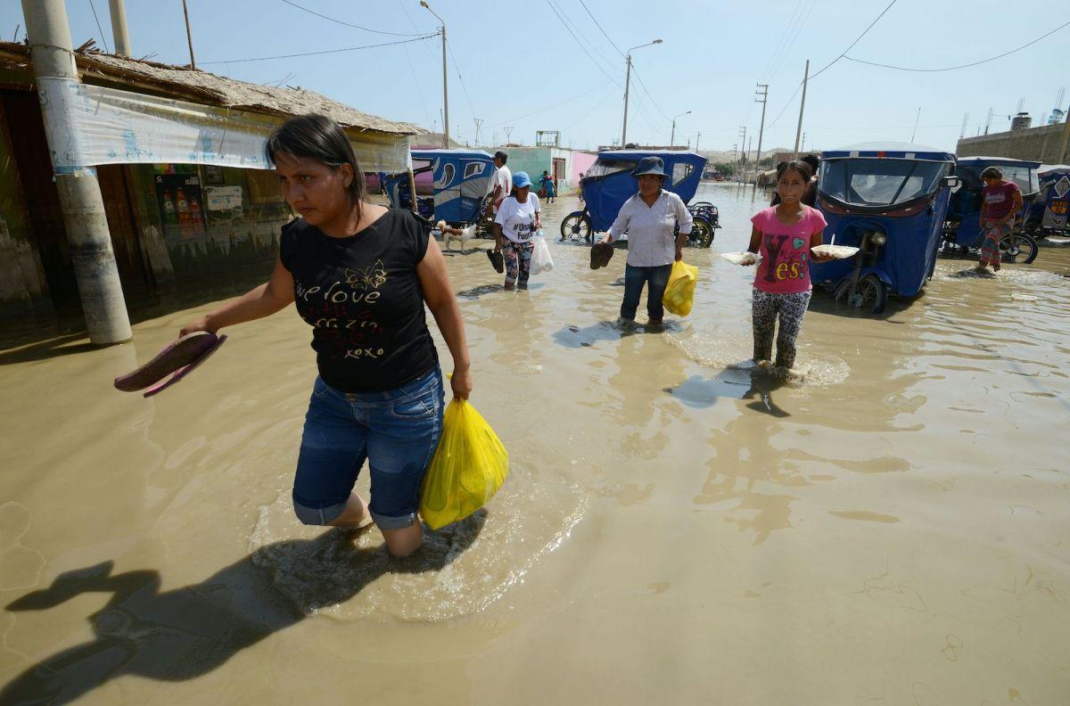 Peru floodwater