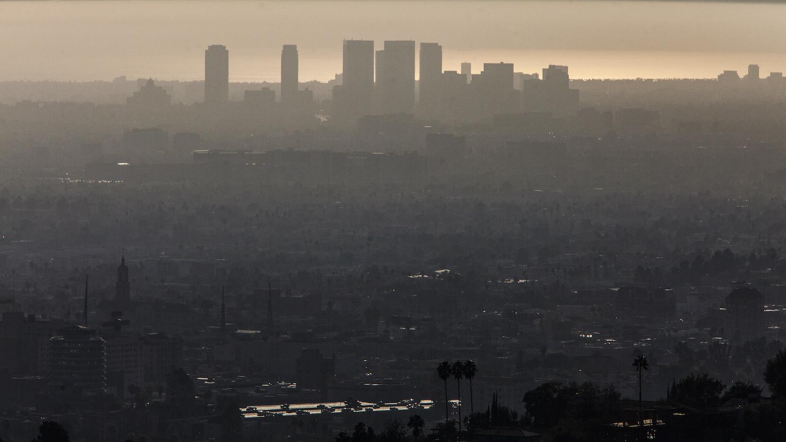 Smog blankets Los Angeles.
