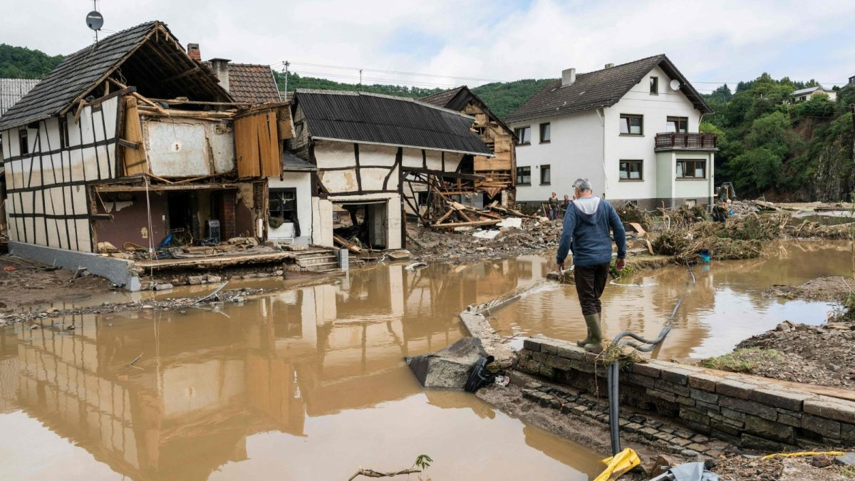 Germany flood from heavy rains
