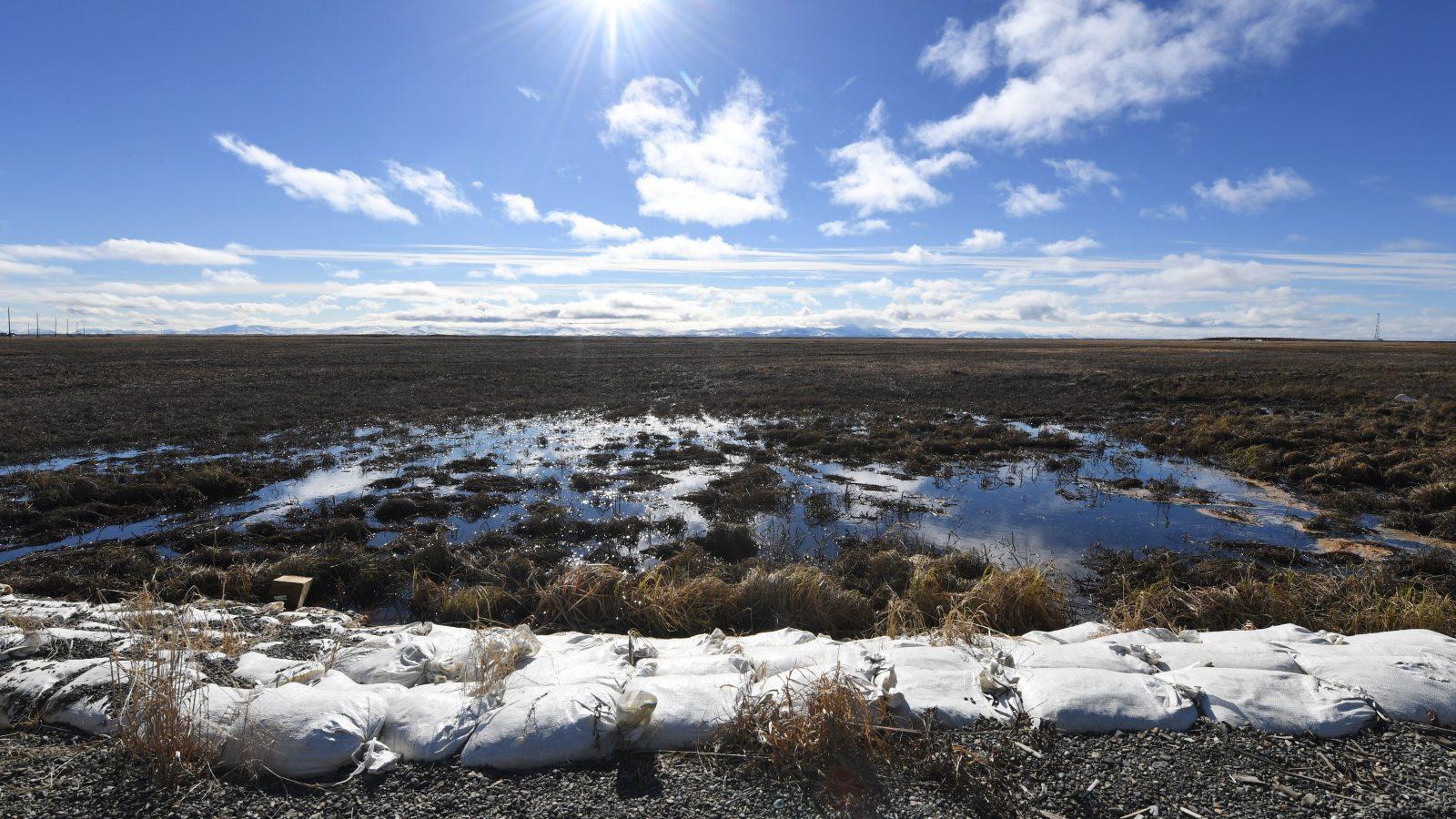 melting permafrost in the Alaska Yukon