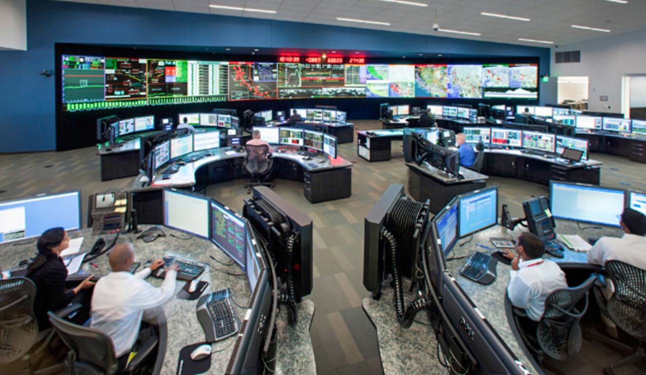 A utility control center.