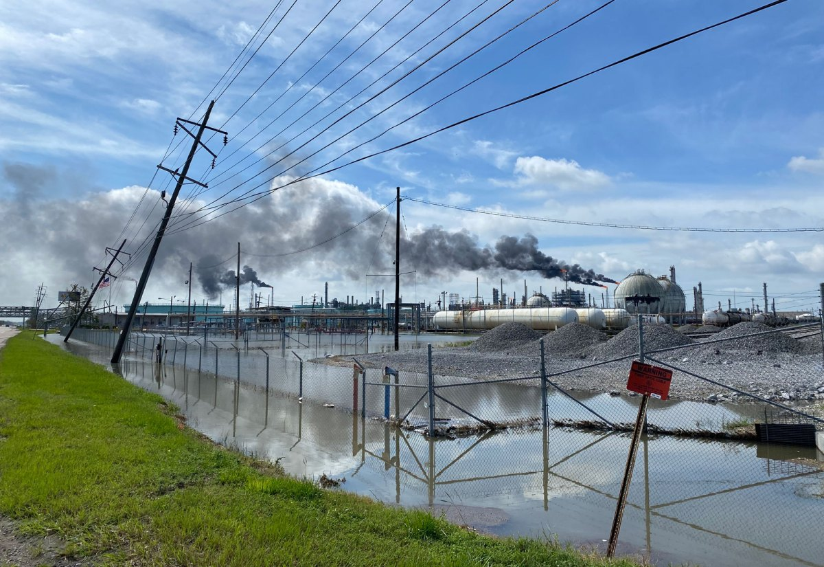 Flooded area outside of Shell Norco Facility