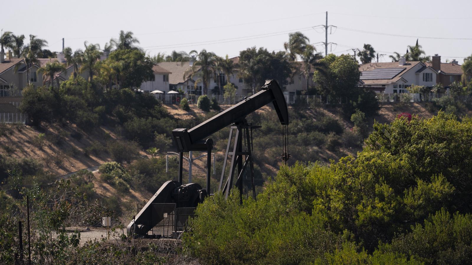 A pumpjack in the Inglewood Oil Field