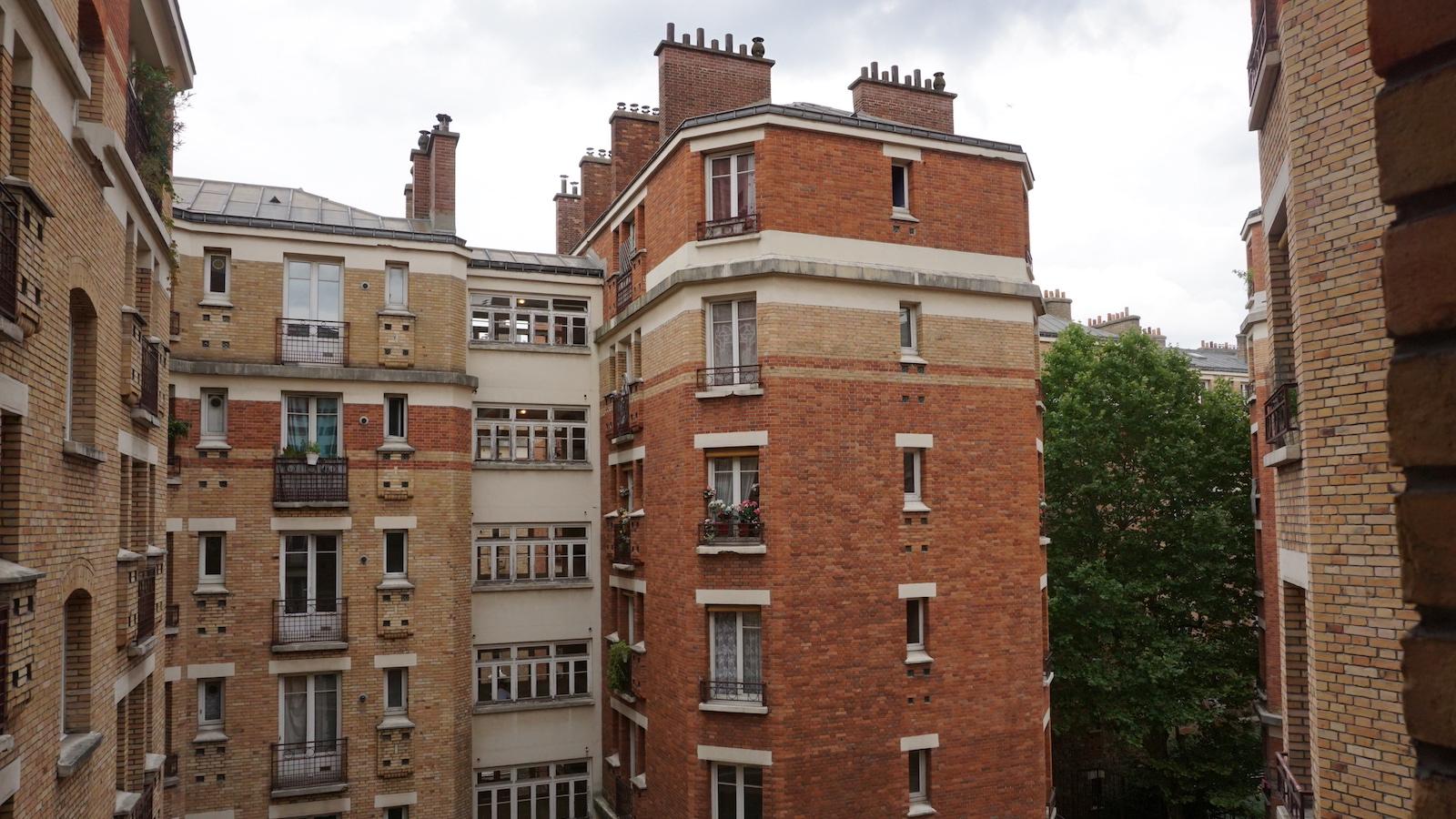 Marcadet public housing in Paris.