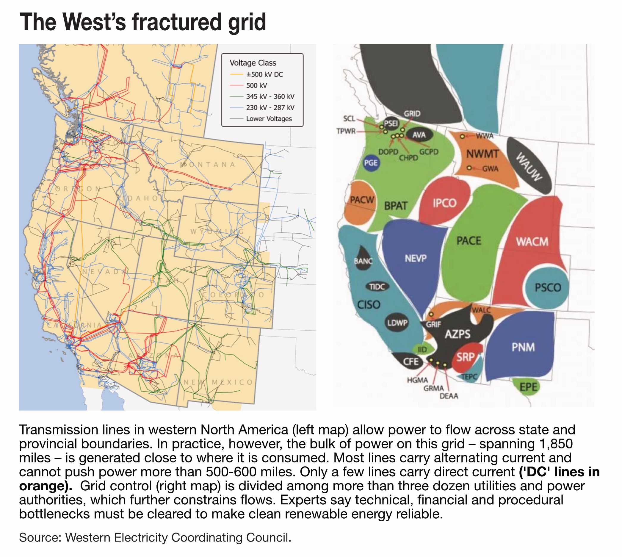 The West's fractured grid