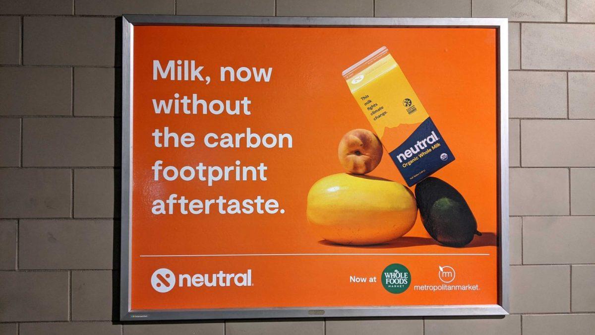 A, orange advertisement says