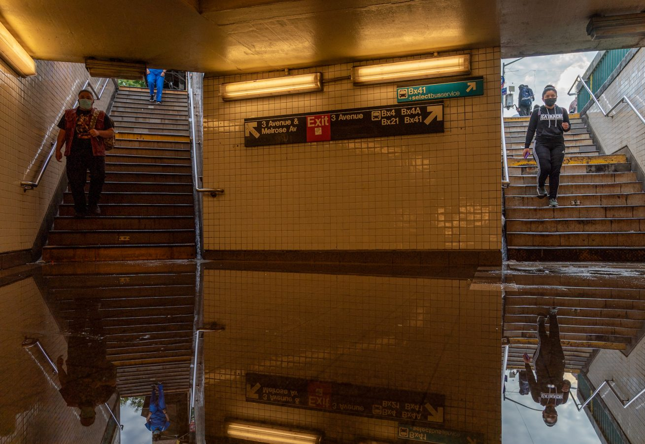 Flooding in a New York City subway.