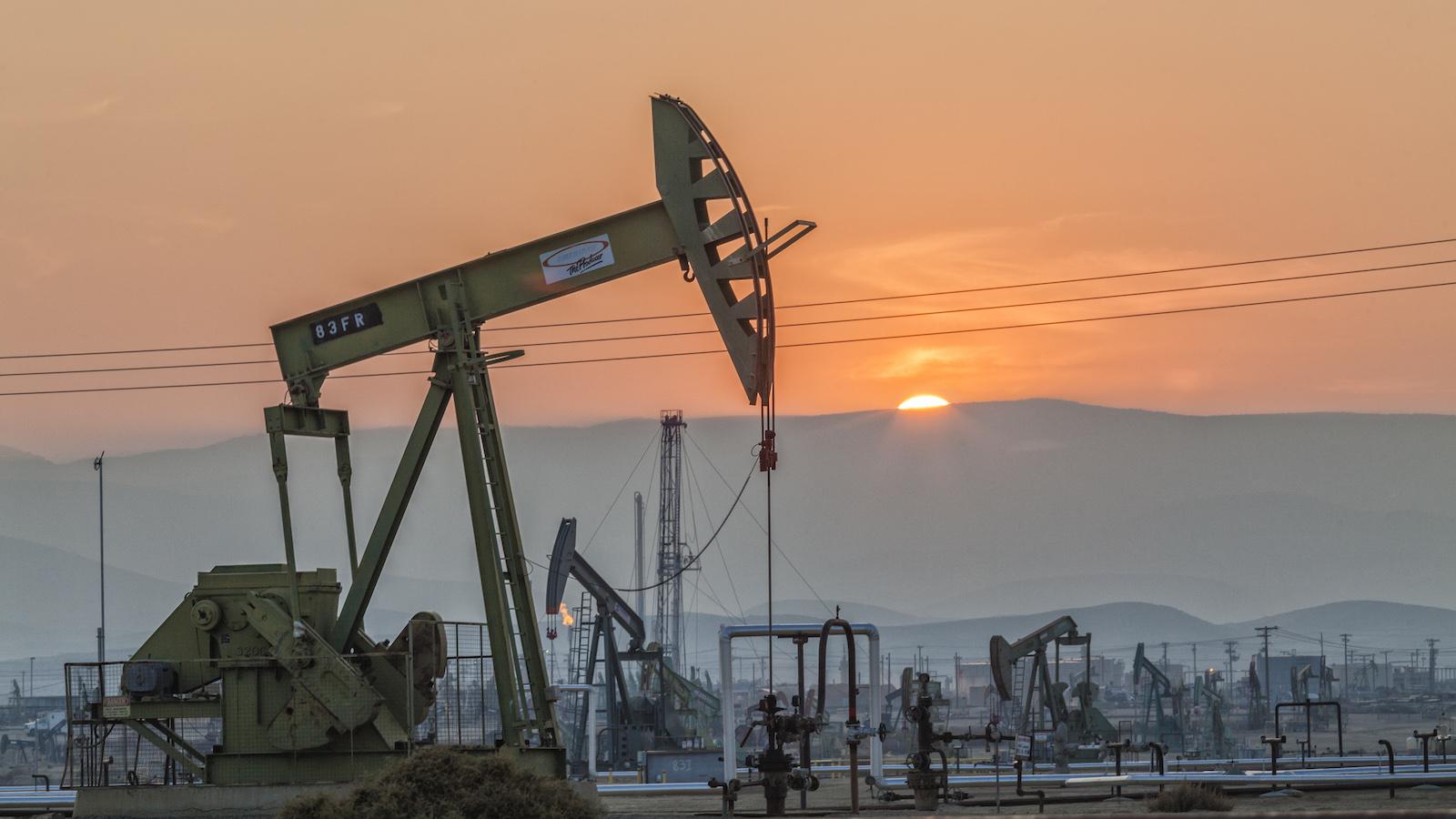Oil pumpjacks in California