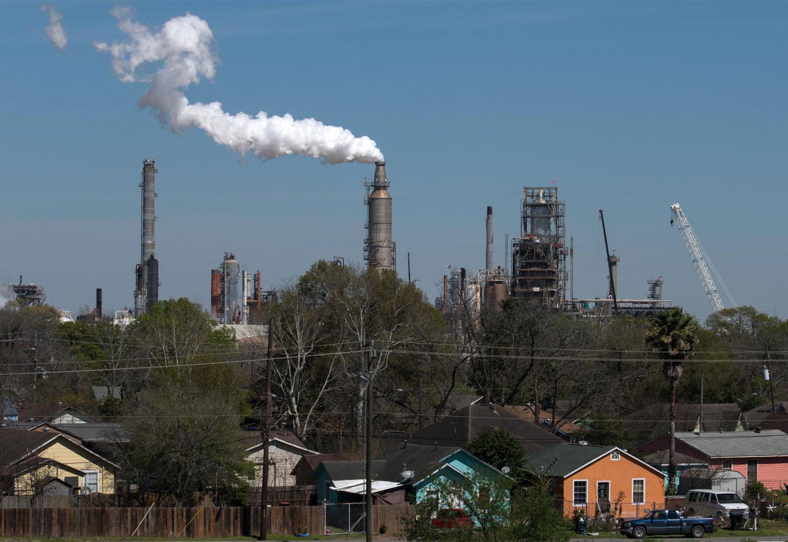 The Valero oil refinery in Houston, Texas